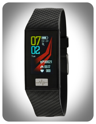 SmartWatch Marea rectangular negro
